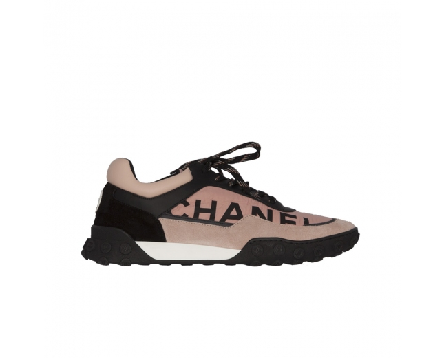 Chanel Sneakers Trainer Rosa y Negro 40.5