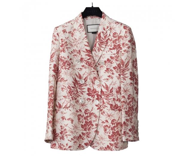 Gucci Blazer Lino Floral T 38