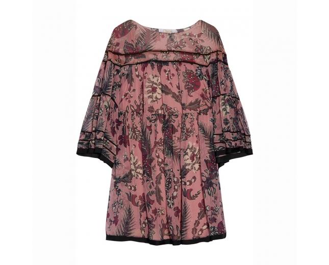 Chloé Vestido Georgette Rosa T 38