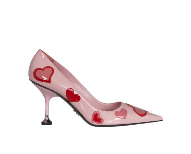 Prada Zapatos Salón Rosa Corazones T 40