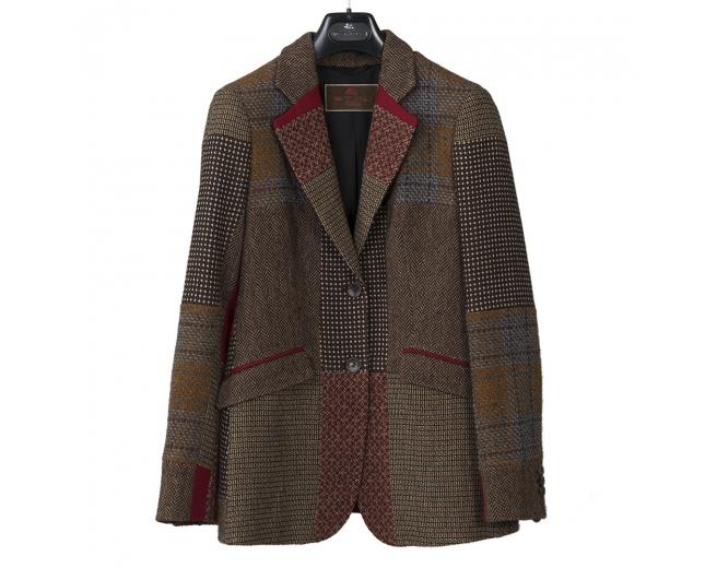 Etro Blazer Tweed Patchwork T 38