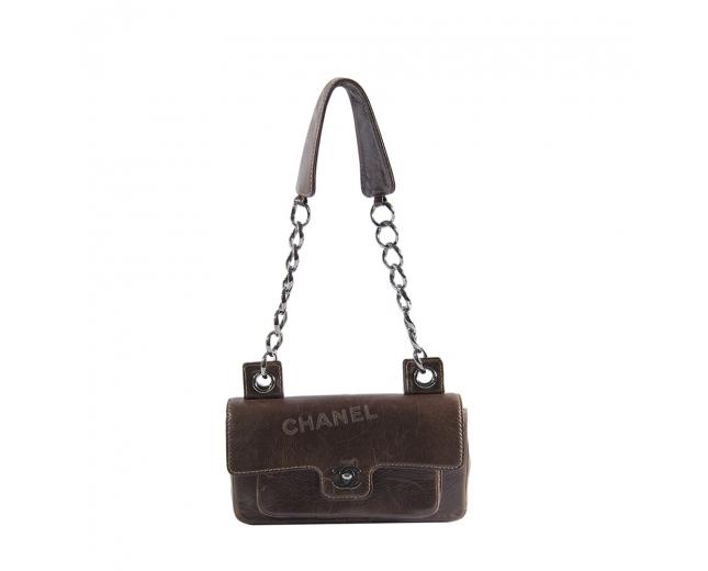 Chanel Bolso Distressed Marrón