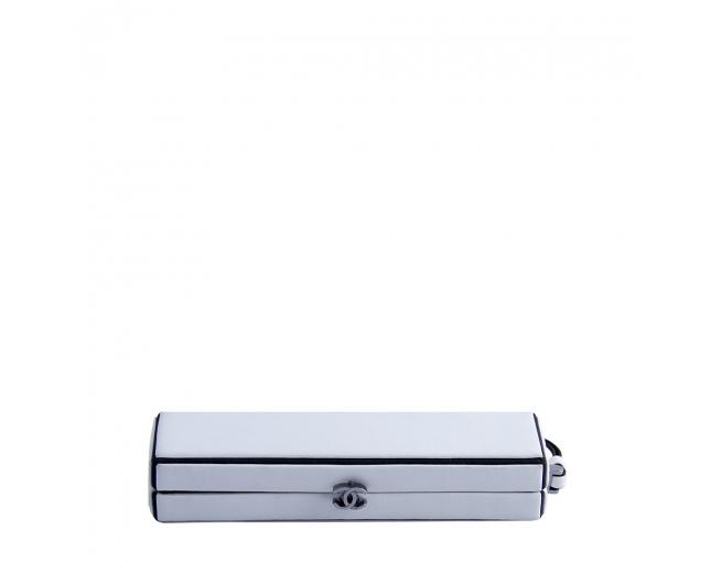 Chanel Clutch Minaudiere Blanco