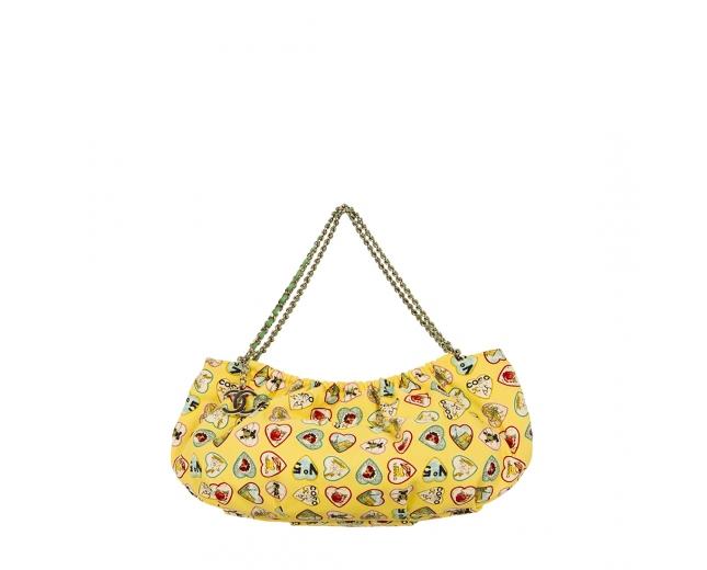 Chanel Bolso Amarillo Corazones