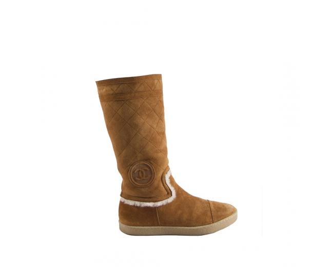 Chanel Botas Ante Camel T 40