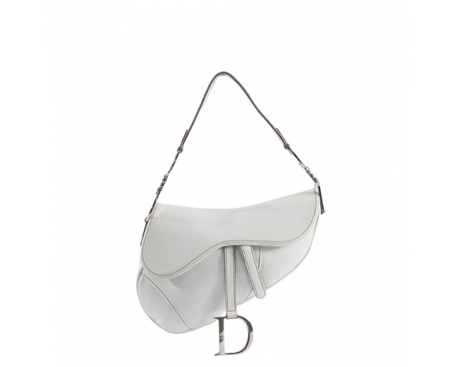 Dior Bolso Saddle Blanco