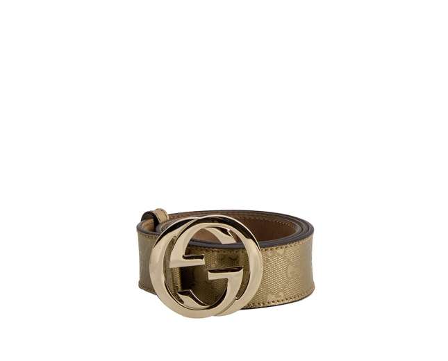 Gucci Cinturón Gold GG T 80