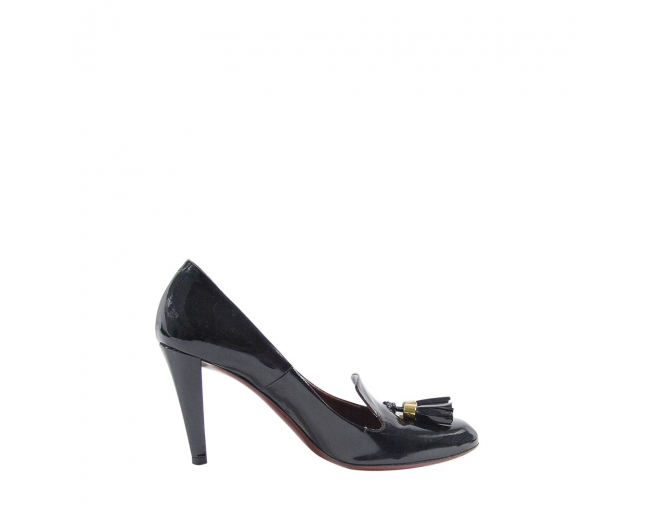 Gucci Zapatos Charol Negros T 39.5