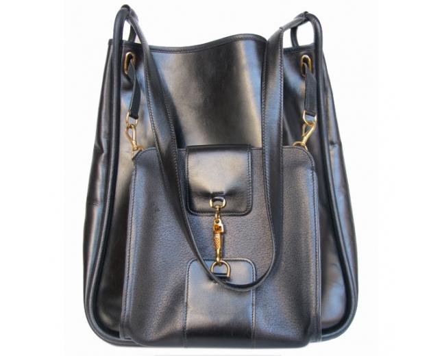 Hermès bolso vintage negro