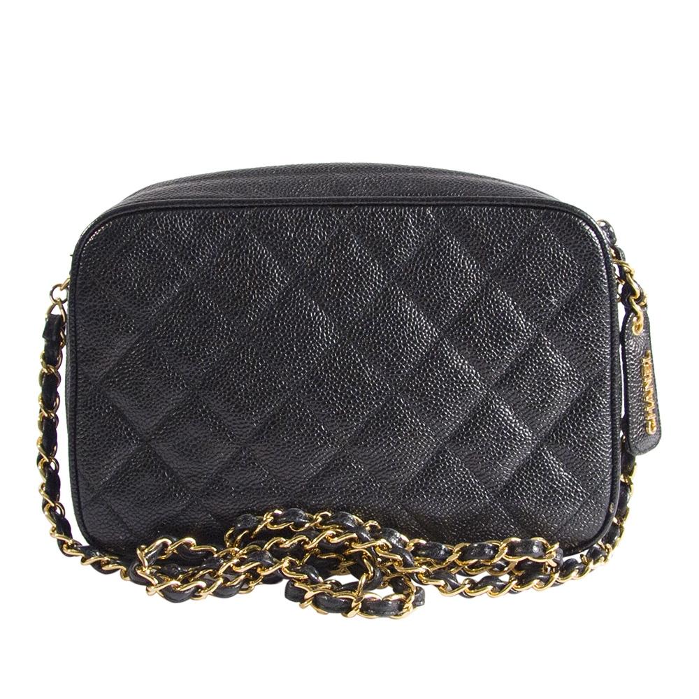 Chanel Vintage bolso acolchado con doble cadena