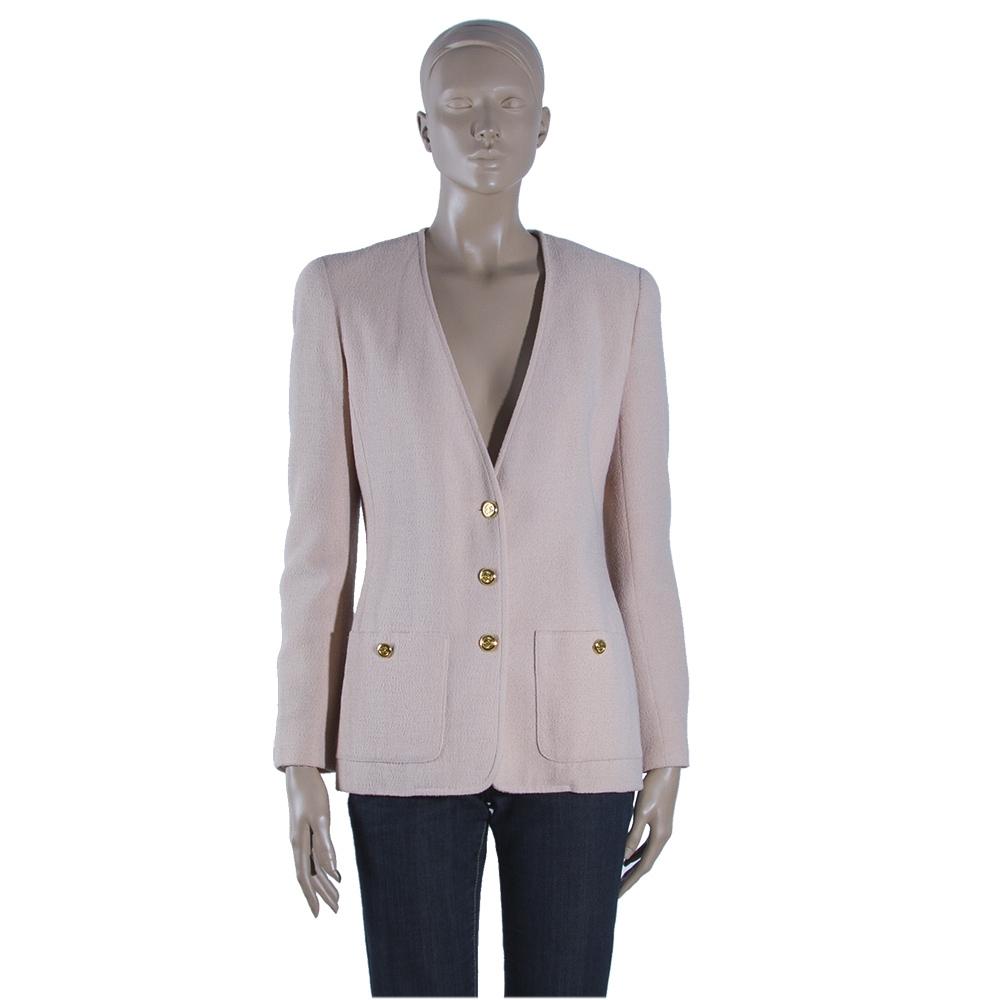 47f3a7a21 Chanel Chaqueta Rosa Salmon T 38 - Tienda de Bolsos de Marca online