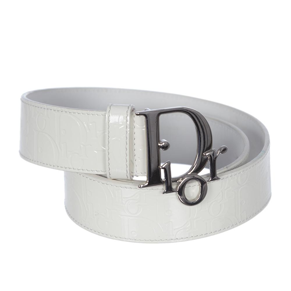 nuevo concepto aa1dc adc92 Dior Cinturon Blanco Charo T 85 - Tienda de Bolsos de Marca ...