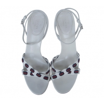 Gucci sandalias blancas T. 38