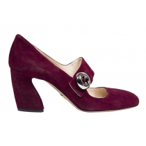 Prada Zapatos Ante Mary Jane T 38.5