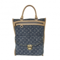LV Sac Plat Denim Monogram