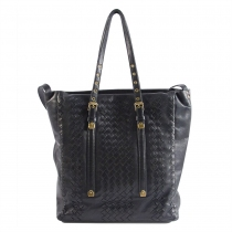 Bottega Veneta Bolso Negro Intreciatto