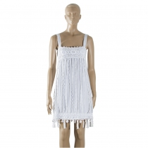 Chanel Vestido Crochet T S