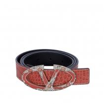 Valentino Cinturón Piel Coral T 85