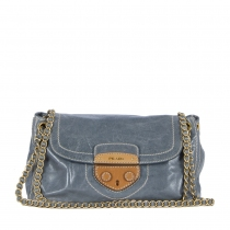 Prada Bolso Vitello Shine Azul