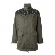 Saint Laurent Parka Verde  T 38
