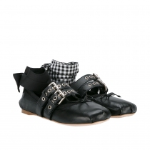 Miu Miu Bailarinas Lace-up T 38