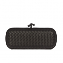 Bottega Veneta Long Clutch Knot Negro