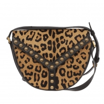 Saint Laurent Bolso Leopardo Y Studs