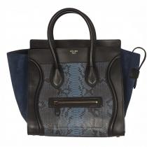 Céline Tote Luggage Azul Pitón