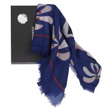 Chanel Estola Cachemire Azul