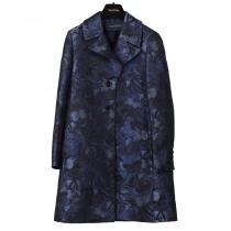 Valentino Abrigo Azul Mariposas T 36
