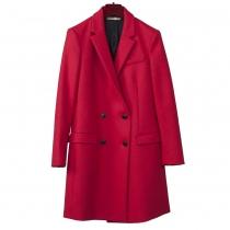 Balenciaga Abrigo Corto Rojo Lana T 38