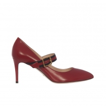 Gucci Zapatos Mary Jane Sylvie Rojos 40