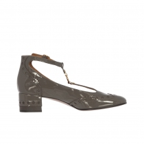 Chloe Zapatos Perry 45 Charol Gris 39.5