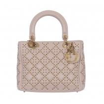 Dior Bolso Lady Dior Supple Studded