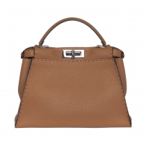 Fendi Bolso Peekaboo Regular Toffee
