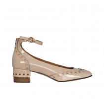 Chloé Salones Perry Charol Beige T 40