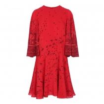Valentino Vestido Rojo Golondrinas T 36