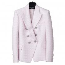 Balmain Chaqueta Rosa Tweed T 38