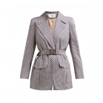 Fendi Chaqueta Romantic Tiles Rosa 36