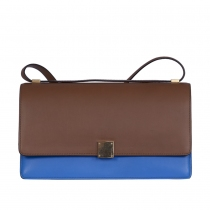 Céline Medium Case Camel y Azul