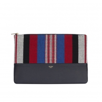 Celine Clutch Solo Pouch Rayas Navy