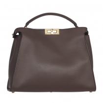 Fendi Bolso Peekaboo Essential Marrón