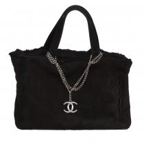 Chanel Bolso Vintage Ante Negro