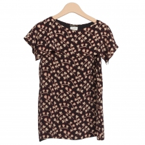 Saint Laurent Top Seda Carazones T 38