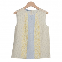 Prada Top  Amarillo Bordado Floral T 36