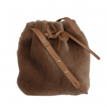 Mansur Gavriel Mini Bucket Shearling