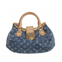 Louis Vuitton Bolso Pleaty Denim Azul