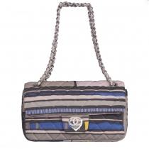 Chanel Bolso Acolchado Rayas Multicolor