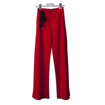 Gucci Pantalones Rojos Crepé Lana T 36