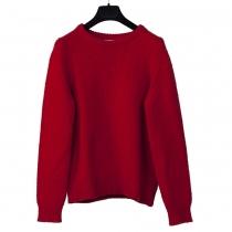 Saint Laurent Jersey Cashmire Rojo T L